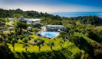 Aerial views of the Hotel Cristal Ballena