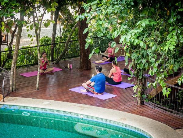 Yoga Class at the Arenas del Mar Beachfront & Rainforest Resort