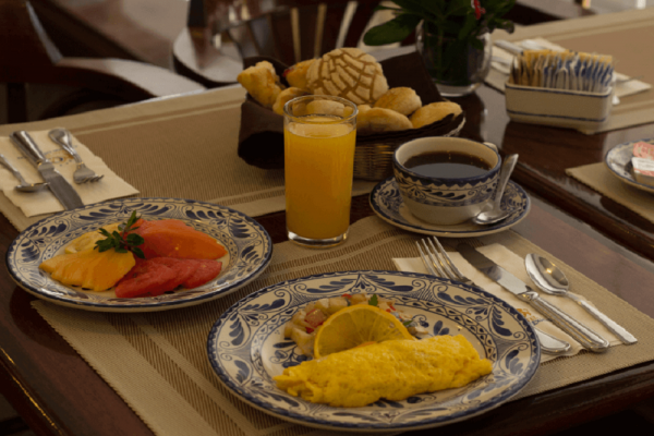 Breakfast at the Gran Hotel Ciudad de Mexico