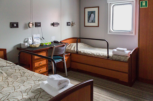 MV Ushuaia ship Superior Twin cabin