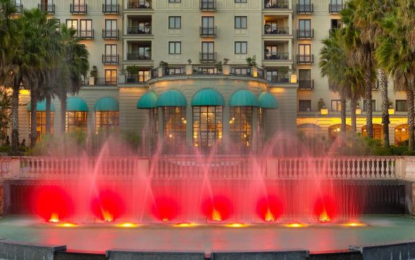 Fountain in front of Sheraton Addis Ababa