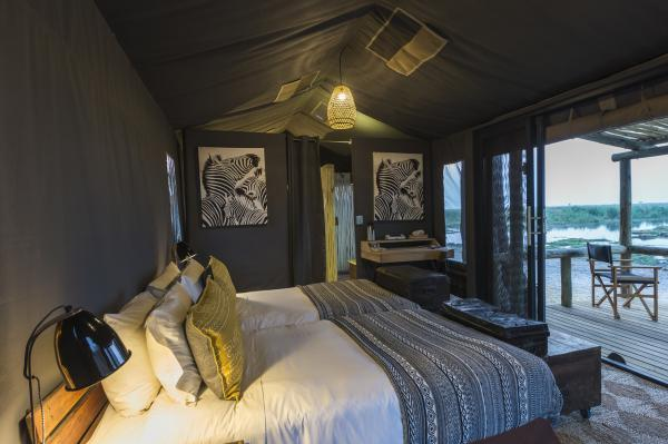 Enjoy the view from your tent at Linyanti Tented Camp