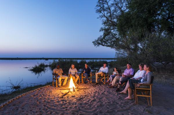 Relax under the stars after a day on safari