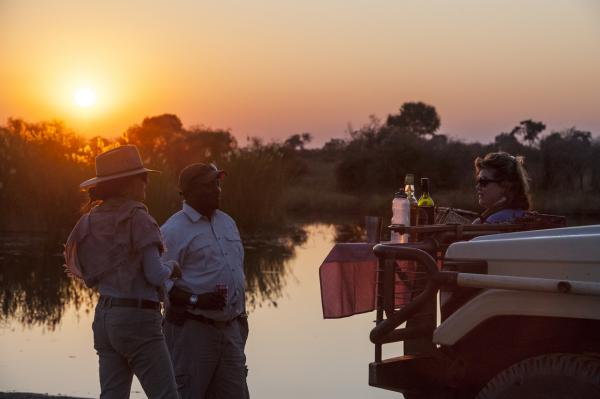 Sundowners in the Linyanti Concession