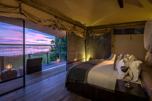 Enjoy a sunset over the Detla from the privacy of your room