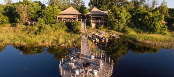 DumaTau is located along Botswana's Okavango Delta
