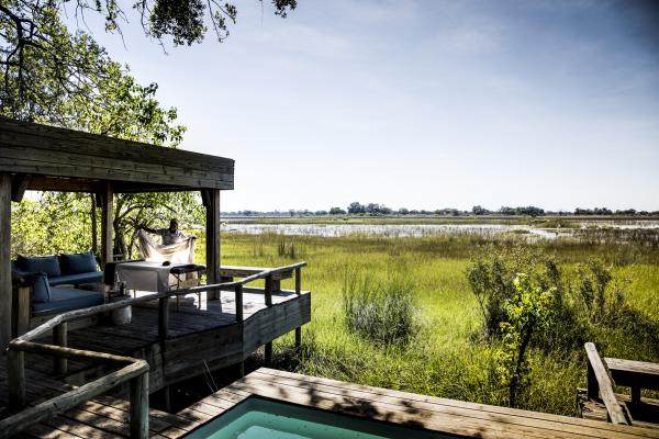 Views from the luxurious Vumbura Plains Camp