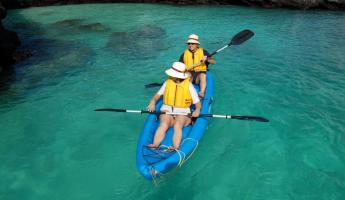 Kayaking the warm waters of the Galapagos