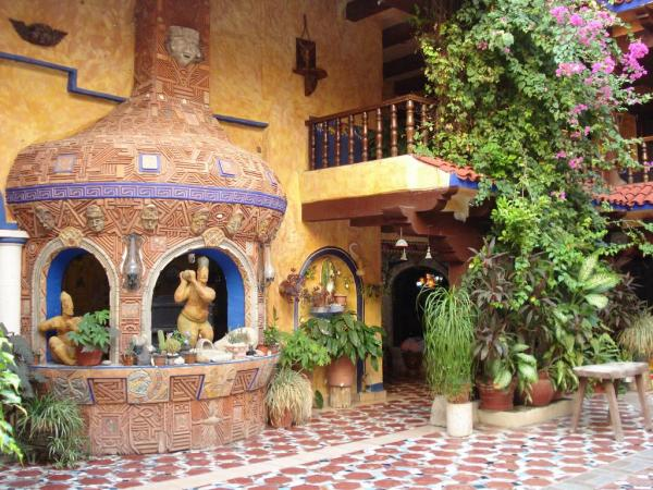 Colorful mosaics, open courtyards and lush landscaping make Hotel El Fuerte a retreat
