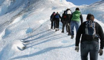 Trekking up the Perito Moreno Glacier