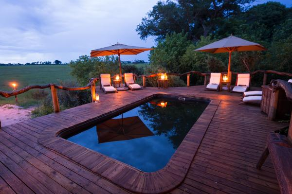Pool with a view at Tubu Tree Camp