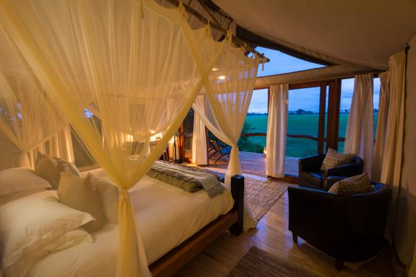 Tubu Tree's luxury tents feature breathtaking views
