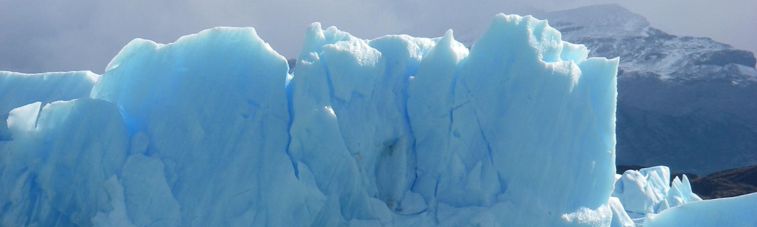 Passing an iceberg on the way to Upsala Glacier