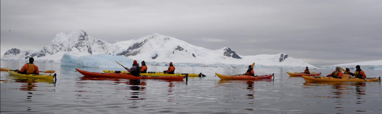 Kayaking on silky Antarctica waters - nothing like it.