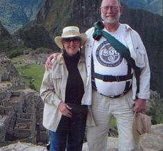 Mark and Pat at the ruins of Machu Picchu, Peru.