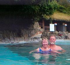 Pat and Mark.  Papallacta Hot Springs, Ecuador.
