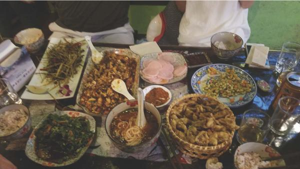 Our wonderful Hunan meal in Beijing!