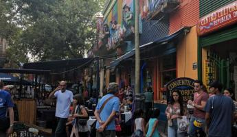 Colorful streets of La Boca