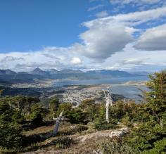 View of Ushuaia from our horseback ride.