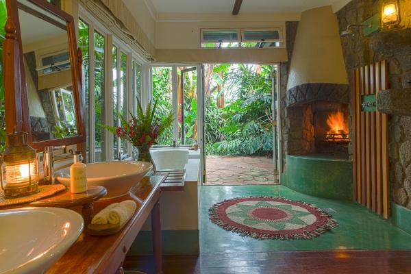 Spacious ensuite bathrooms complete with a fireplace