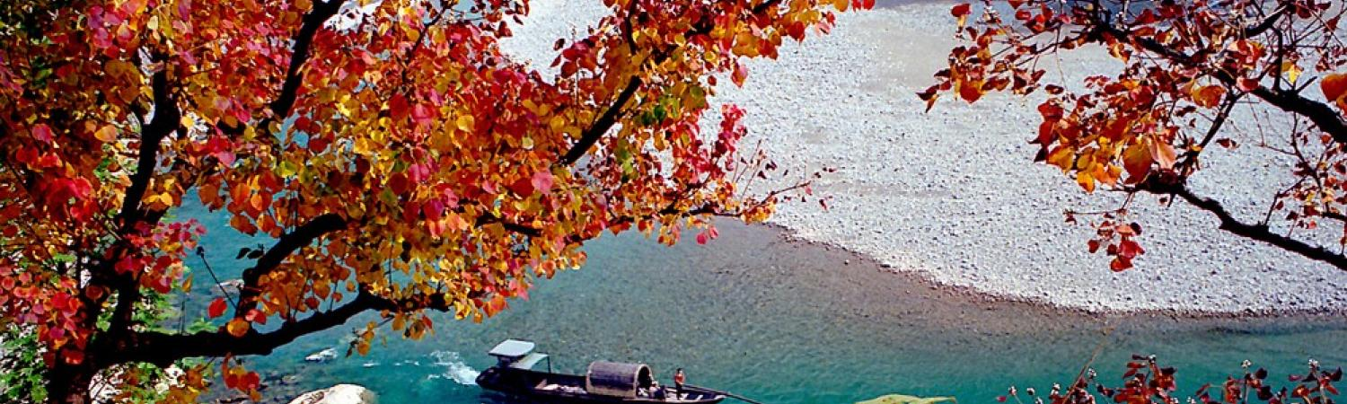 Beautiful fall foliage greets the Yangzi Explorer