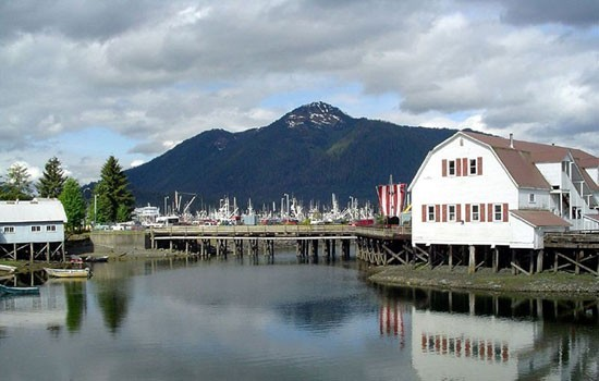 Visit the charming port towns of Alaska