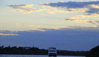 Sunset on our Zambezi River cruise