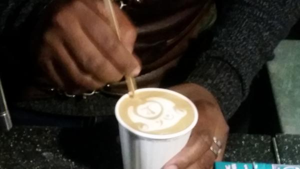 Latte Art at Truth Coffee Cape Town