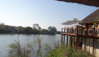 View from Thornybush Waterside Lodge