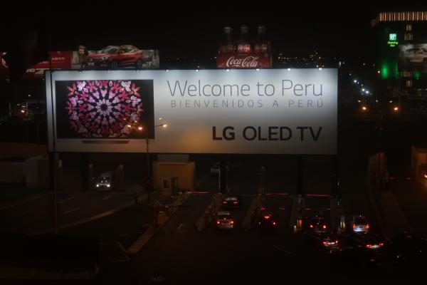 Sign outside the Wyndham Costa del Sol at Jorge Chavez International aiport in Lima, Peru