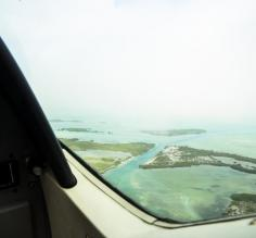 Our flight back to Belize City with Tropic Air