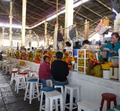 Juice vendors at San Pedro Market