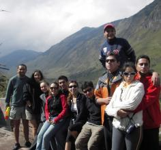 The group in the mountains