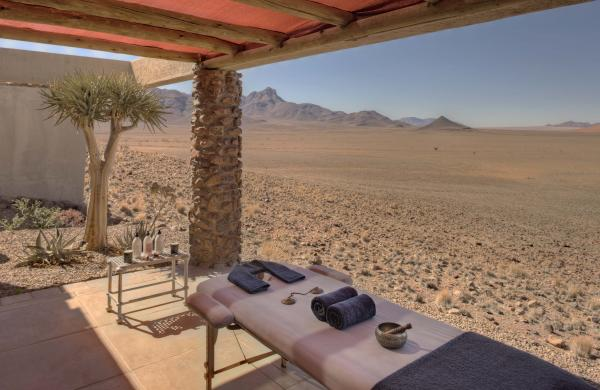 Relax with a massage by the desert