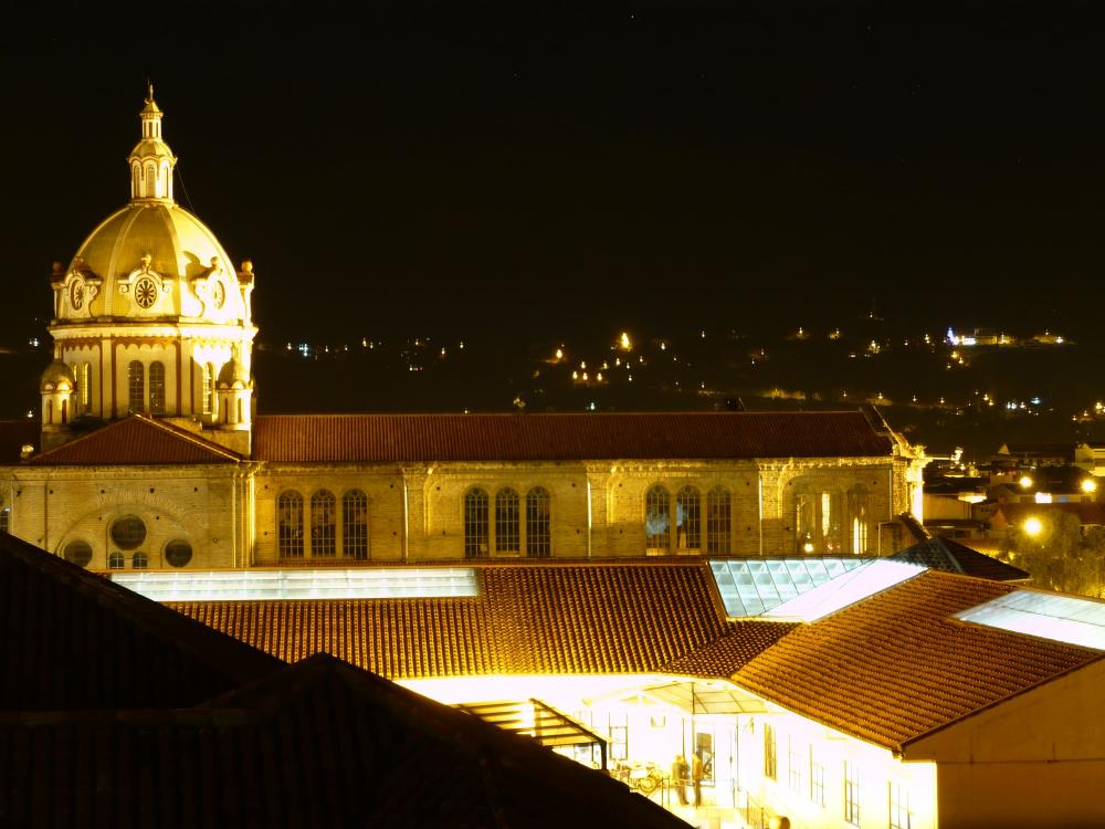 A view from my room.... Cuenca by night....