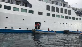 Galapagos Legend embarkation/disembarkation area