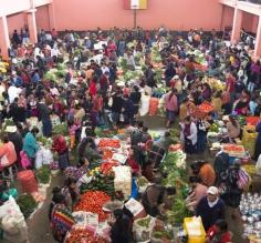 Produce market at Chichicastenango