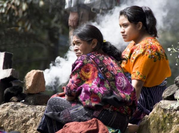 Women at the Chichicastenango market