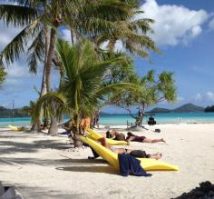 Bora Bora day 2 - private beach