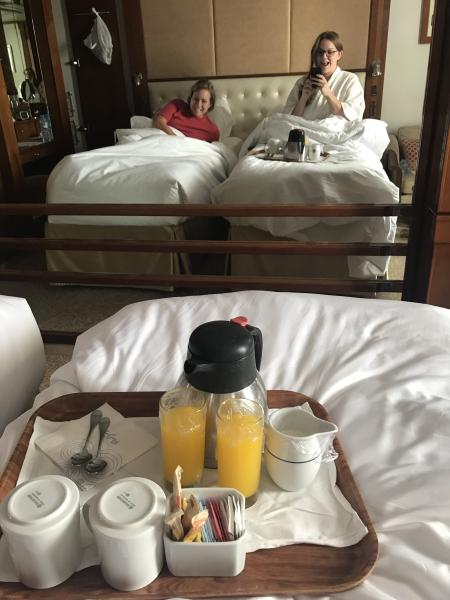 Coffee & OJ room service? Sure!