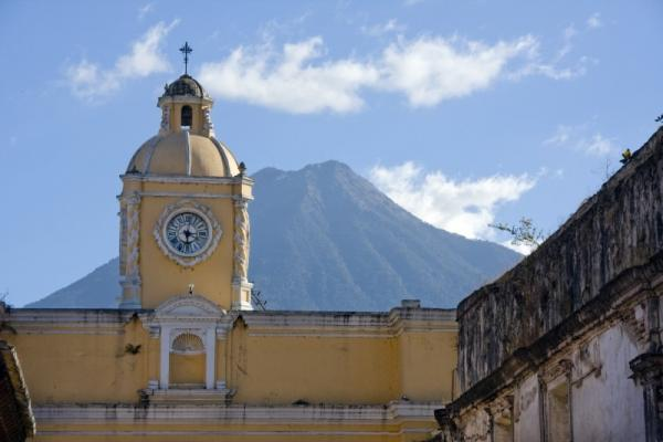 Volcanoes are easy to spot in Guatemala