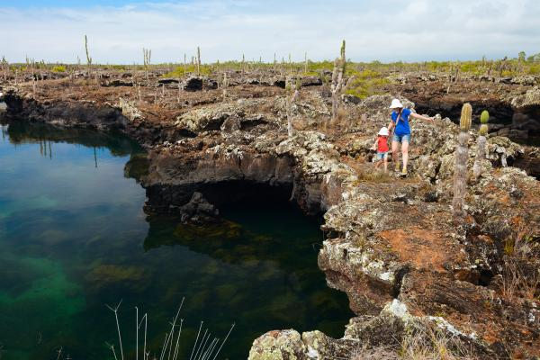Hiking the stunning landscape of the Galapagos