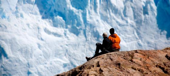 Taking in close-up views of glaciers