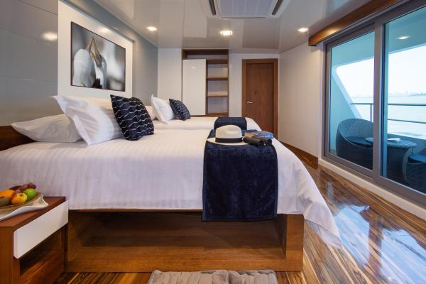 Spacious cabins aboard the Infinity