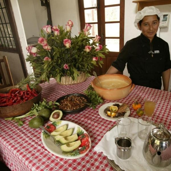 Authentic Andean cuisine on the menu at Hacienda San Augustin de Callo