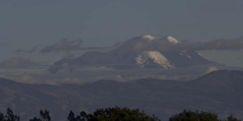 Chimborazo Volcano, a view from Hacienda San Augustin de Callo