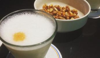 Welcomed to Lima with Pisco Sour and Maiz tostado