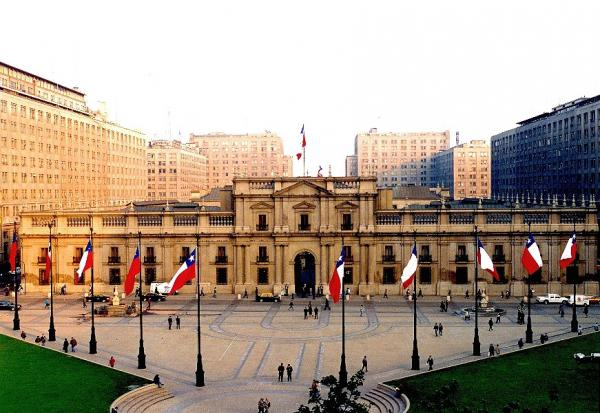 La Moneda Palace in Santiago that is visited during Santiago City Tour
