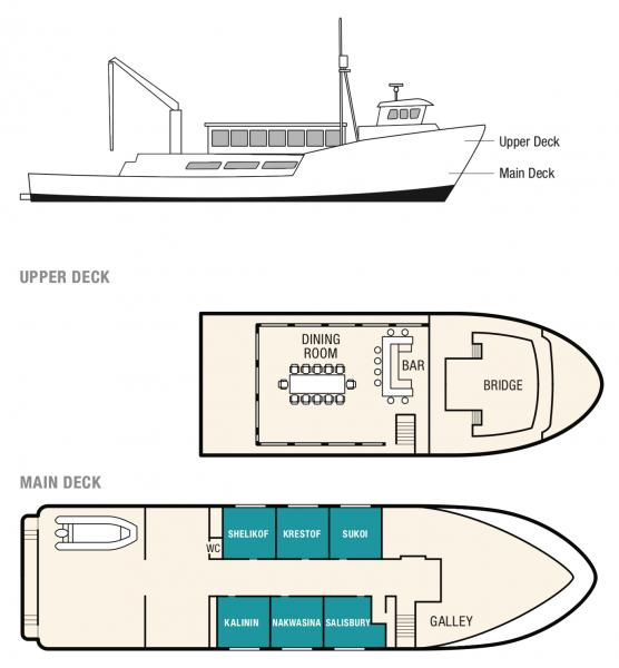 Kruzof Explorer, Deck Plan