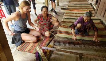 Reed mat weaving, Countryside by Bike Tour